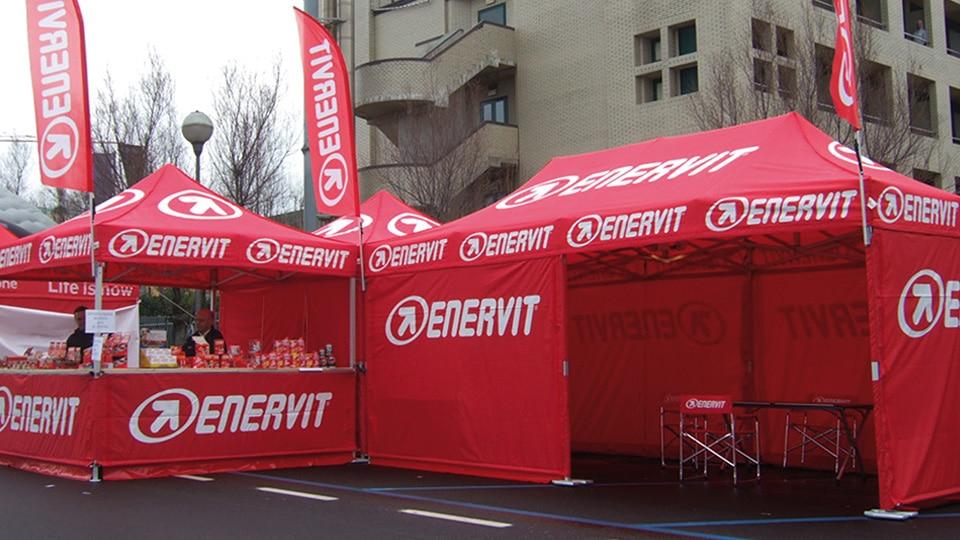 """Gazebo pieghevole QUALYTENT personalizzato/stampato """"Enervit"""""""