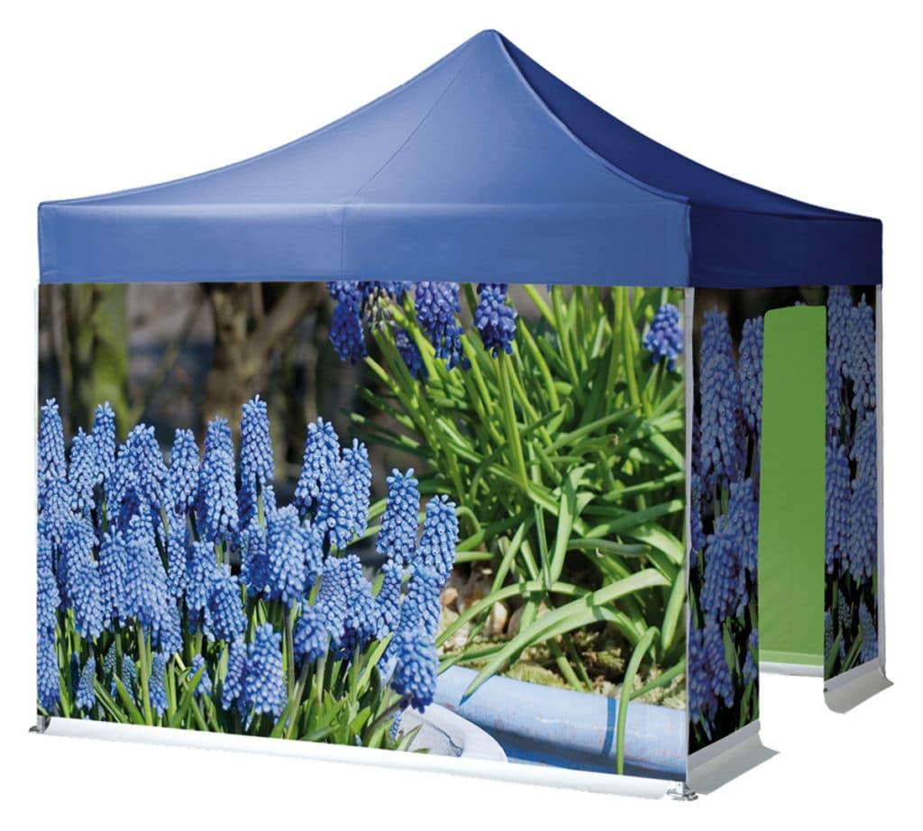 Qualytent Big Print - Blumen blau - 01