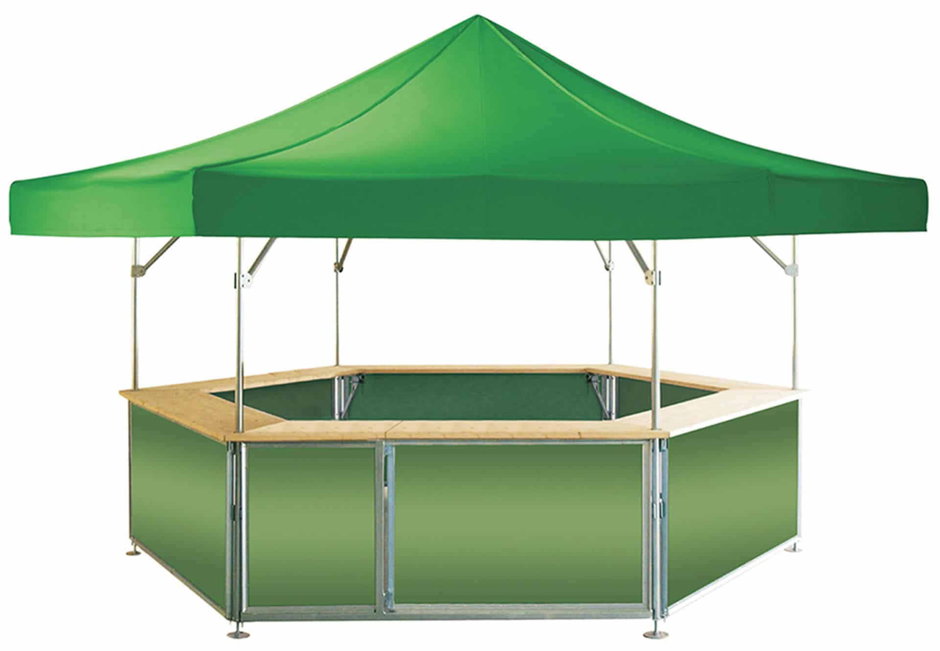 Folding Pavilion Qualytent Kiosk green 01