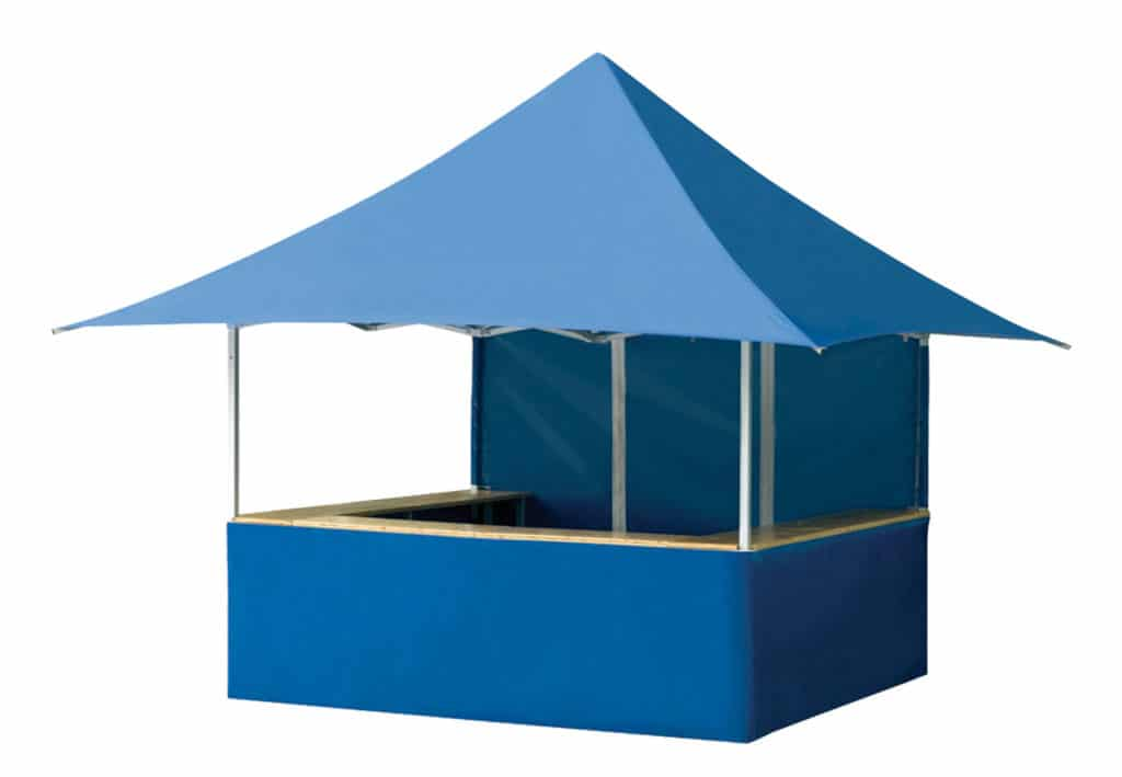 Gazebo pieghevole Qualytent Shop blu banco tenda 01
