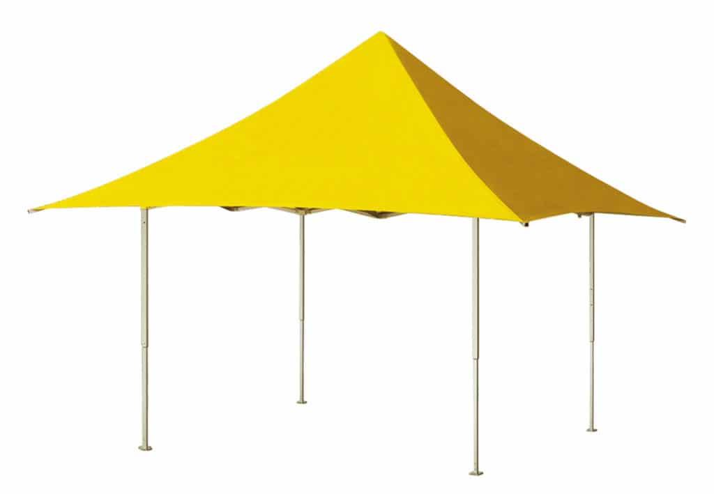 Folding tent Qualytent Shop yellow 01